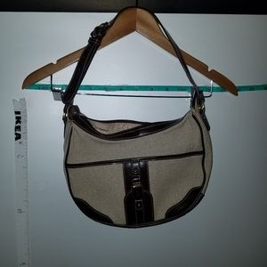 Etienne Aigner Canvas and Leather Bag